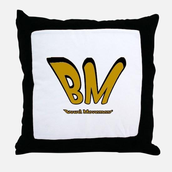 Bowel Movement Throw Pillow