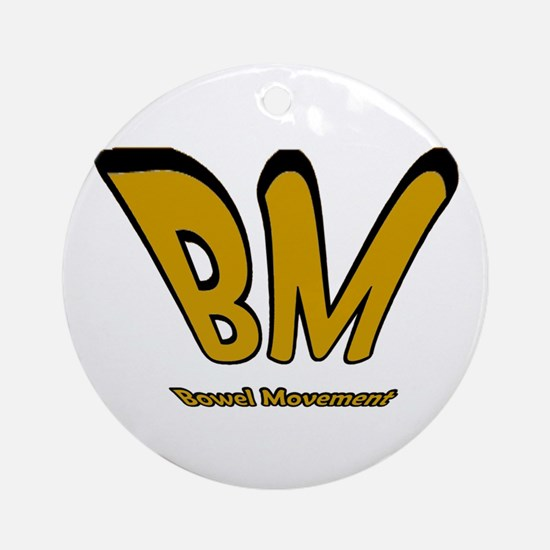 Bowel Movement Ornament (Round)