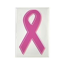 Pink Awareness Ribbon Rectangle Magnet