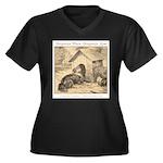 Forgotten Women's Plus Size V-Neck Dark T-Shirt