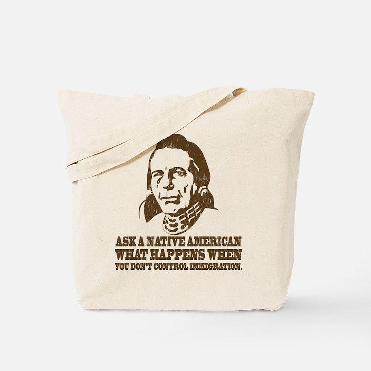 Native American Immigration Tote Bag