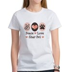 Peace Love Shar Pei Women's T-Shirt