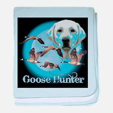 Goose Hunter Lab baby blanket