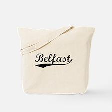 Vintage Belfast (Black) Tote Bag