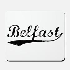 Vintage Belfast (Black) Mousepad