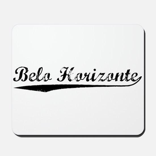 Vintage Belo Horiz.. (Black) Mousepad