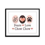 Peace Love Chow Chow Framed Panel Print