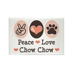 Peace Love Chow Chow Rectangle Magnet (10 pack)