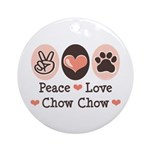 Peace Love Chow Chow Ornament (Round)