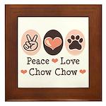 Peace Love Chow Chow Framed Tile