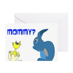 Easter Bunny Baby chick Greeting Cards (Pk of 20)