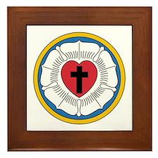 Luther's Seal Framed Tile