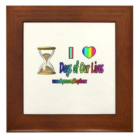 LOVE DAYS OF OUR LIVES Framed Tile