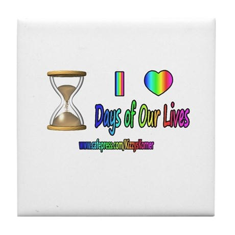 LOVE DAYS OF OUR LIVES Tile Coaster