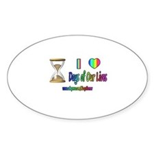 LOVE DAYS OF OUR LIVES Oval Decal