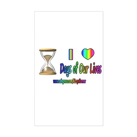LOVE DAYS OF OUR LIVES Rectangle Sticker