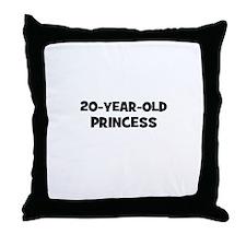 20-Year-Old Princess Throw Pillow