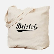 Vintage Bristol (Black) Tote Bag