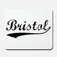 Vintage Bristol (Black) Mousepad