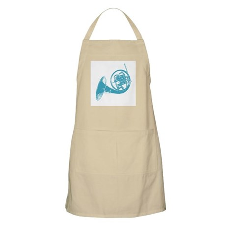 Blue French Horn BBQ Apron