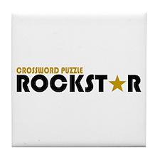 Crossword Puzzle Rockstar Tile Coaster