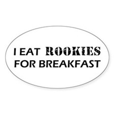 Eat Rookies Oval Decal