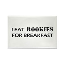 Eat Rookies Rectangle Magnet