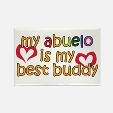Abuelo is My Best Buddy Rectangle Magnet