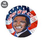 "Barack Obama for President 3.5"" Button (10 pa"