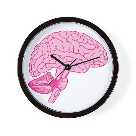 Pink Brain Wall Clock