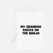 my grandma rocks on the Banjo Greeting Cards (Pk o