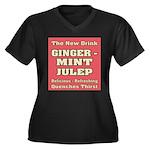Old Mint Julep Sign Women's Plus Size V-Neck Dark