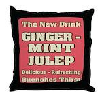 Old Mint Julep Sign Throw Pillow