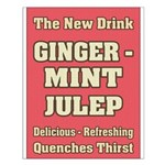 Old Mint Julep Sign Small Poster