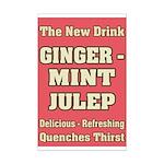 Old Mint Julep Sign Mini Poster Print