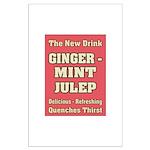 Old Mint Julep Sign Large Poster