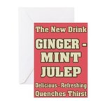 Old Mint Julep Sign Greeting Cards (Pk of 10)