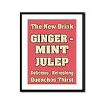 Old Mint Julep Sign Framed Panel Print