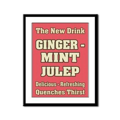 Old Mint Julep Sign Framed Panel Print