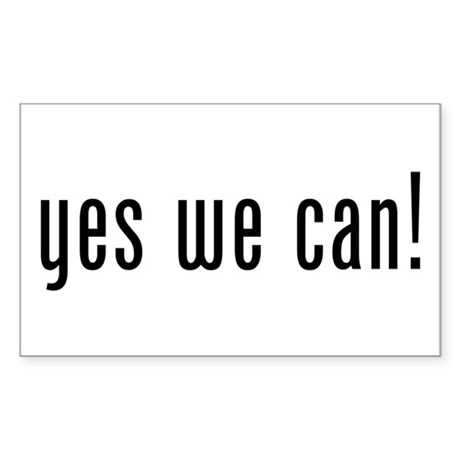 yes we can! Rectangle Sticker