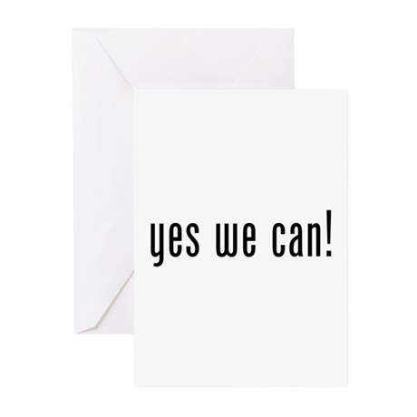 yes we can! Greeting Cards (Pk of 10)