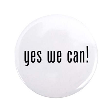 """yes we can! 3.5"""" Button (100 pack)"""