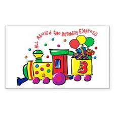 Birthday Express 3rd Rectangle Decal