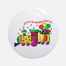Birthday Express 3rd Ornament (Round)