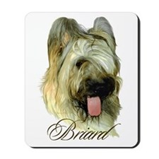 Briard Headstudy Mousepad