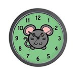Gray Mousie Wall Clock