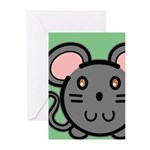 Gray Mousie Greeting Cards (Pk of 20)