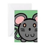 Gray Mousie Greeting Card