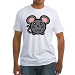 Gray Mousie Fitted T-Shirt