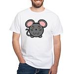 Gray Mousie White T-Shirt